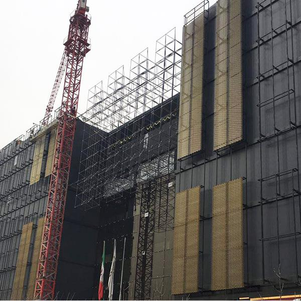 expanded mesh curtain wall