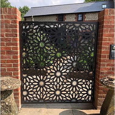Function of laser cut sheet-door screen