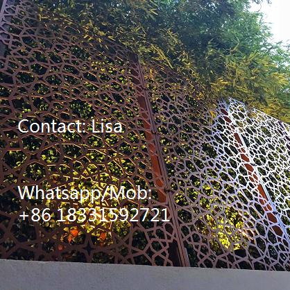 Function of laser cut sheet-wall fence 2