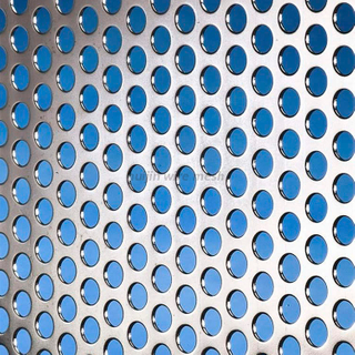Round Staggered Perforated Metal